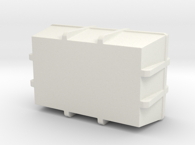 1:20 Cargo box 3 in White Natural Versatile Plastic