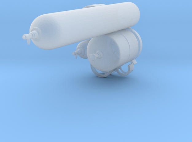gas cylinders in 1:32 in Smooth Fine Detail Plastic