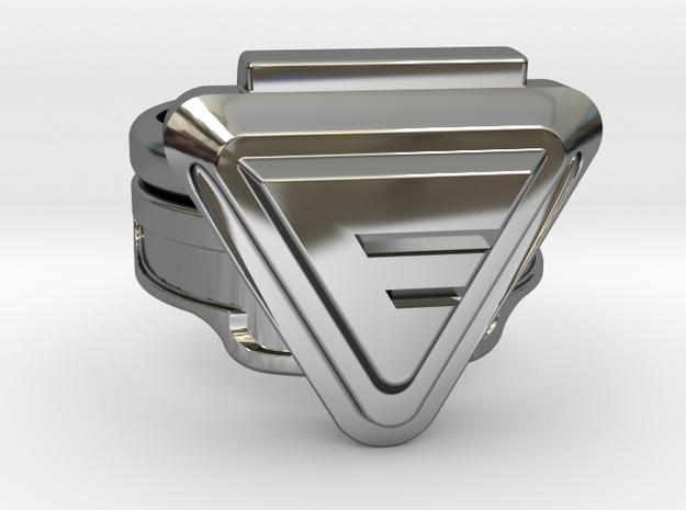 Custom Doctor Evil Ring v2 18.34mm Size 8 1/4 in Fine Detail Polished Silver