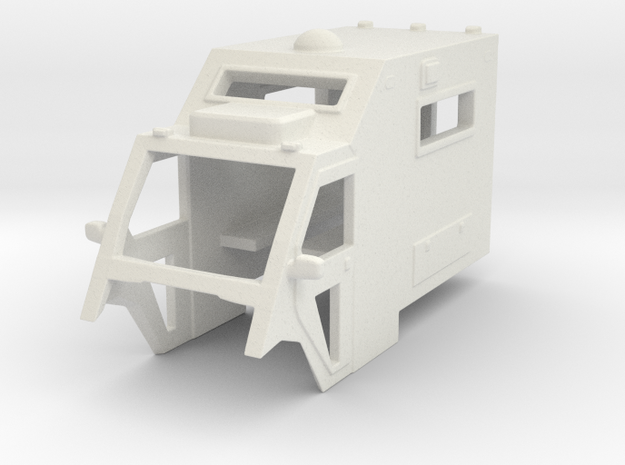 1/64 Scale MULE Ambulance Top in White Natural Versatile Plastic