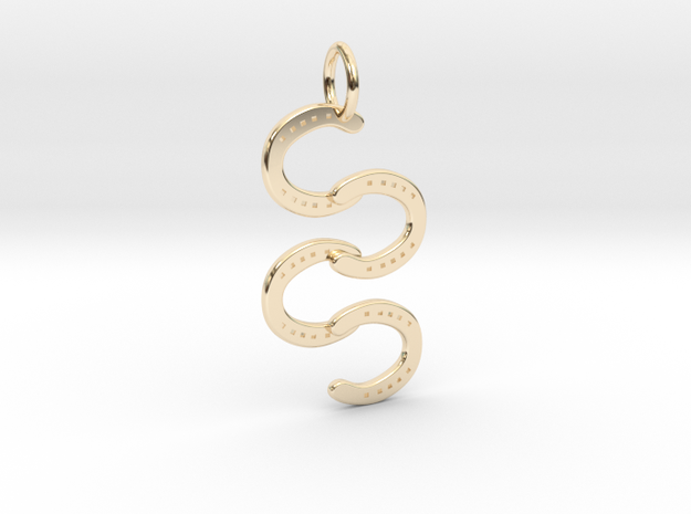 Horse Shoe pendant in 14k Gold Plated Brass