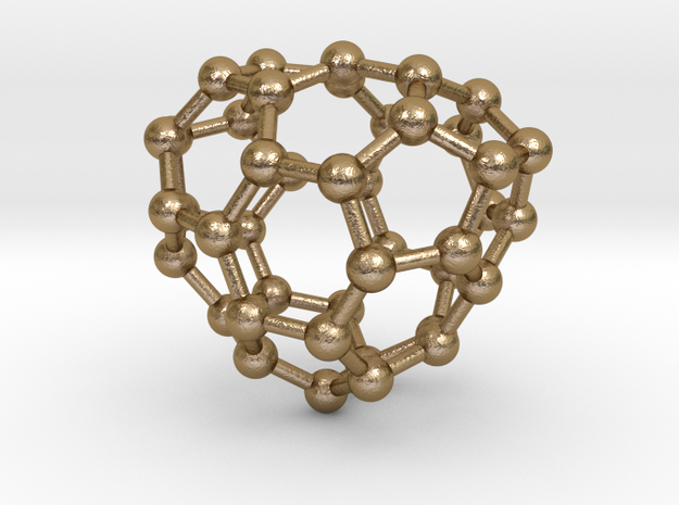0232 Fullerene C42-11 cs in Polished Gold Steel