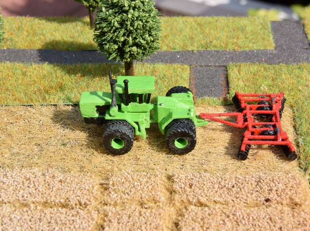 1:160/N-Scale Disc Harrow in Smooth Fine Detail Plastic