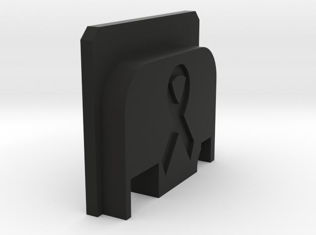 Bbu Backplate Ribbon in Black Natural Versatile Plastic