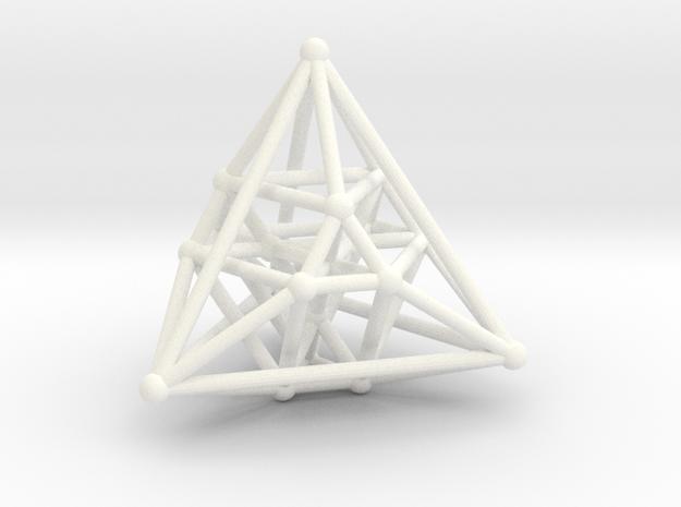 Hyper Tetrahedron Vector Net  in White Processed Versatile Plastic