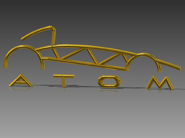 Atom Logo interpretation 3d printed