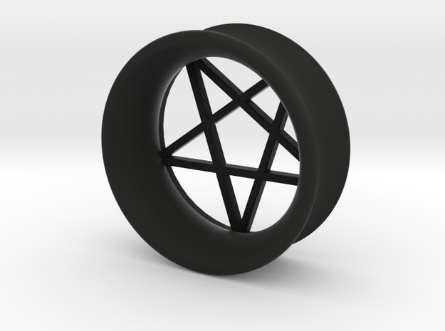 Pentagram Ear Plug in Black Strong & Flexible