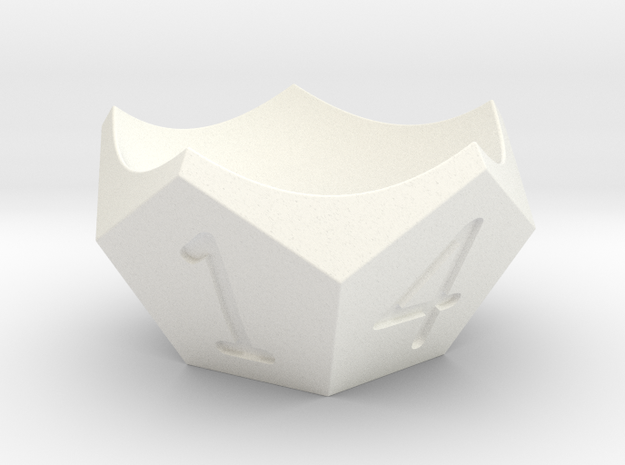 Egg-cup in White Processed Versatile Plastic