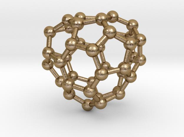 0240 Fullerene C42-19 cs in Polished Gold Steel