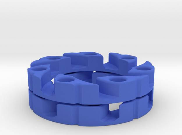 VEX Mecanum Wheel Adapter Backs in Blue Strong & Flexible Polished