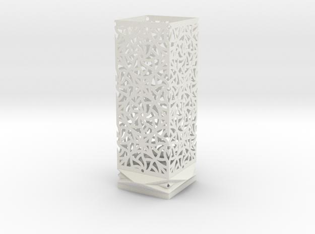 Lamp Square Column - Curved Star Pattern V1