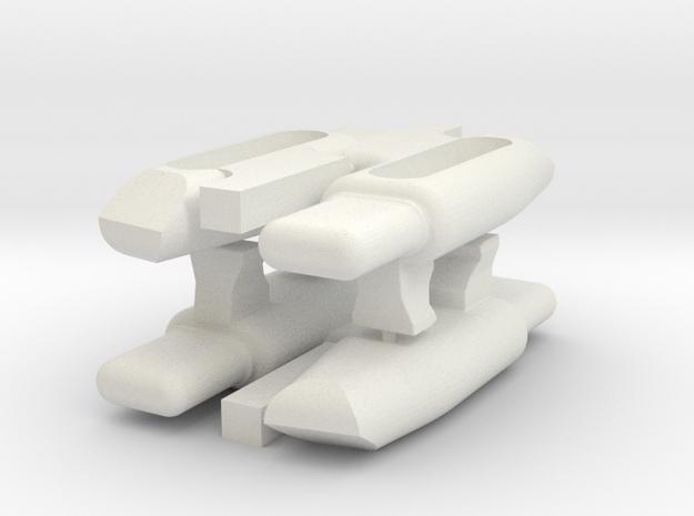 KJW KC-02 Follower 4 Pack in White Natural Versatile Plastic