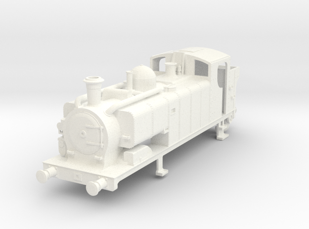 00 gauge 97xx Condensing Pannier body With Topfeed in White Processed Versatile Plastic