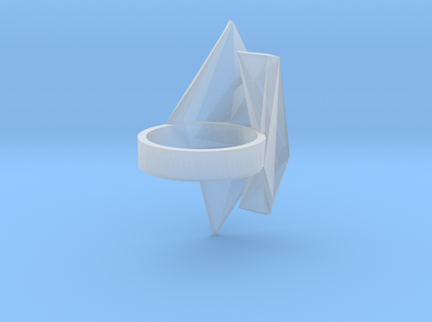 Spaceship Ring v2 size 8 3d printed