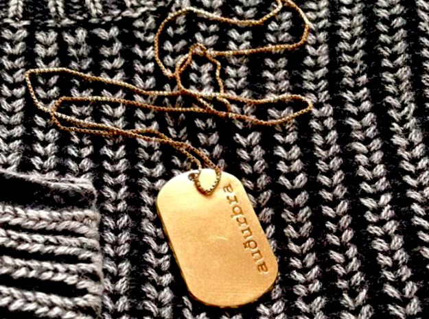 Personalized name tag pendant