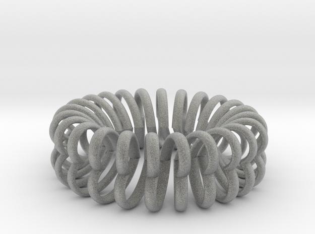 Herz Band Ring Ausn 11 in Metallic Plastic