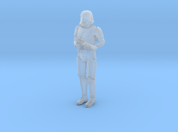 Stormtrooper in position of Attention 3d printed