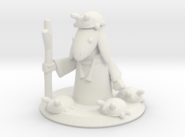 Ladybug Mage with Base (16mm) in White Natural Versatile Plastic