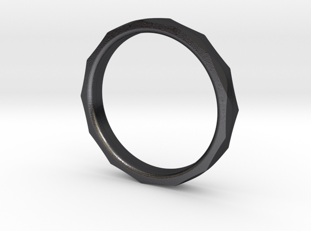 Engineer's Ring - Size 8 in Polished and Bronzed Black Steel