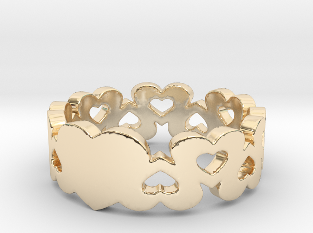 True Love Ring in 14k Gold Plated Brass: 6 / 51.5