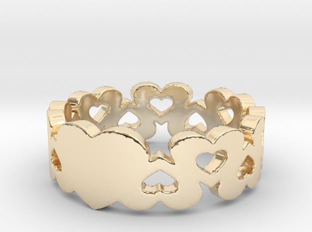 True Love Ring in 14k Gold Plated Brass: 6 / 51.5