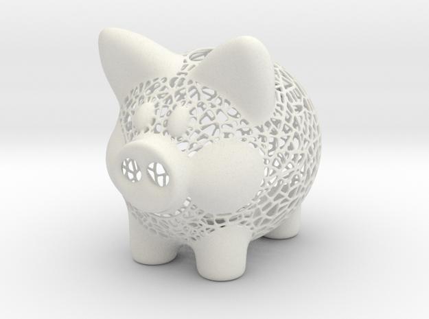 Peek A Boo Piggy Bank 4 Inch Tall in White Strong & Flexible