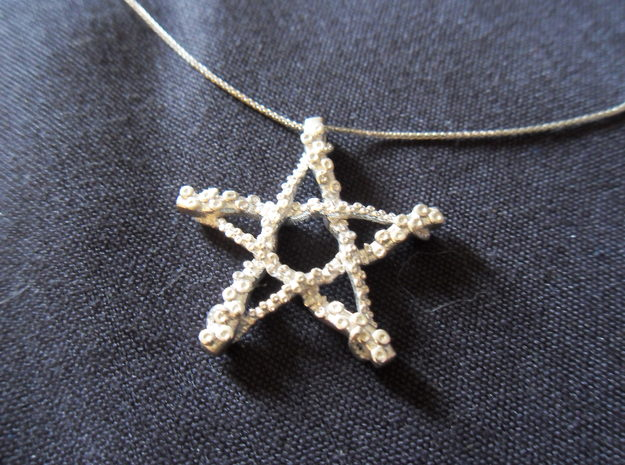 Tentacle Pentacle in Polished Silver