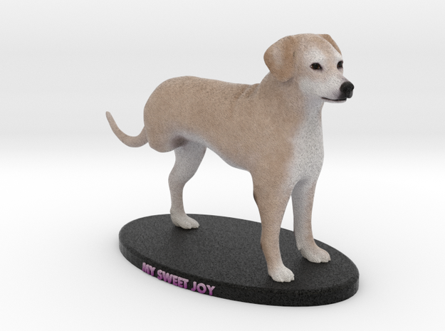 Custom Dog Figurine - Joy in Full Color Sandstone