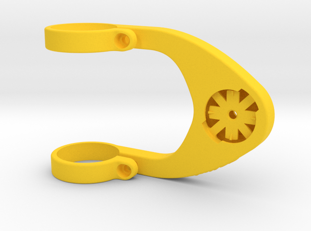 31.8 mm Edge/Virb Dual Arm Mount in Yellow Processed Versatile Plastic