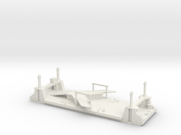 1/600 1 Off LST Pierhead Part 1 in White Natural Versatile Plastic
