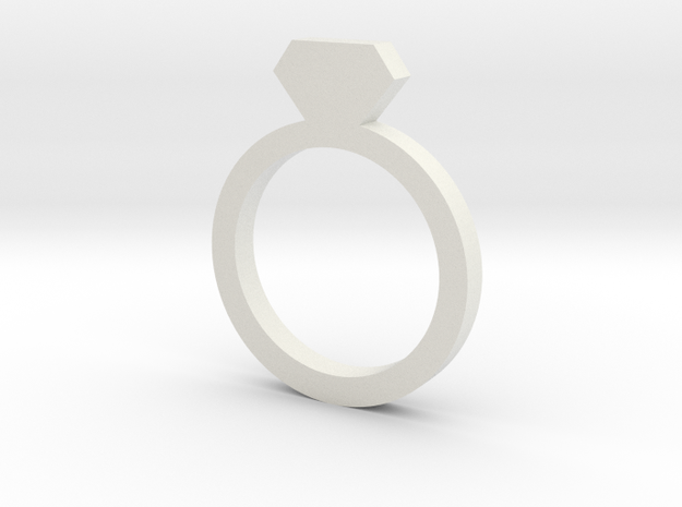 Placeholder Ring in White Strong & Flexible