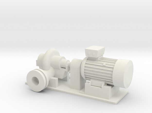 Centrifugal Pump #1 (Size 4) in White Natural Versatile Plastic