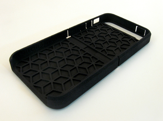 "Cariband case for iPhone 5/5s, ""holds stuff"" 3d printed Black Strong & Flexible"