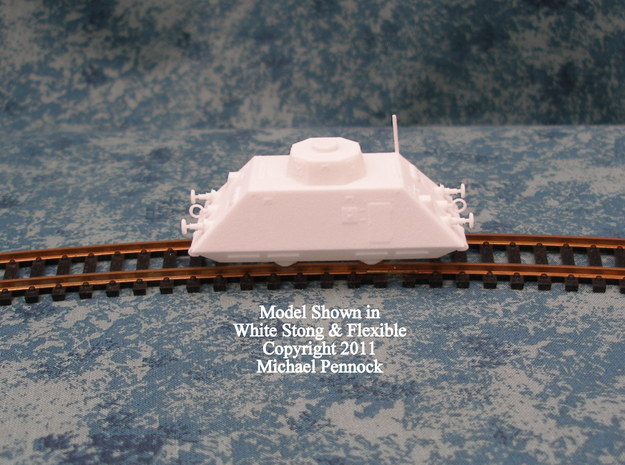 AT01 Infantry Car (1/100) in White Natural Versatile Plastic