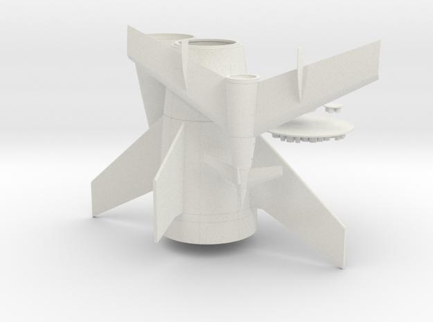 1/144 VON BRAUN ROCKET in White Natural Versatile Plastic