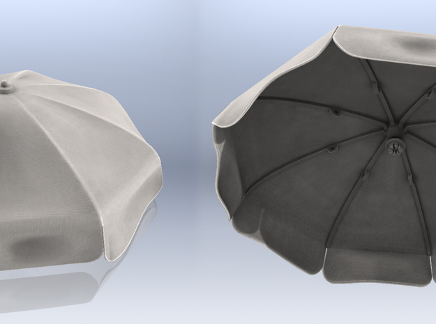 1:35 BEACH UMBRELLA  in Frosted Ultra Detail