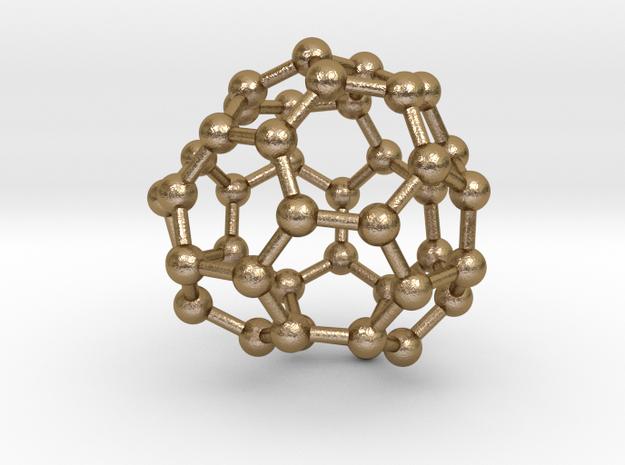 0265 Fullerene C42-44 c1 in Polished Gold Steel