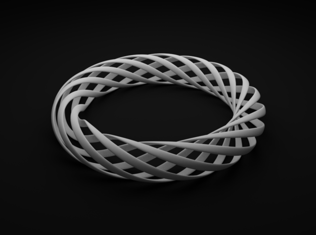 Spiral Style Bracelet  in White Processed Versatile Plastic