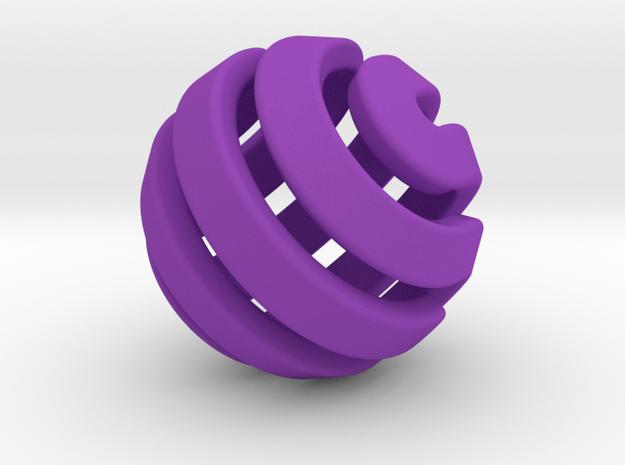 Ball-11-3 in Purple Processed Versatile Plastic