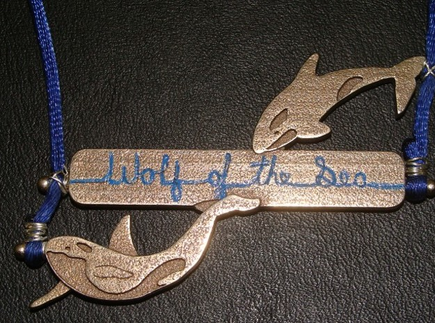 Orca - Wolf Of The Sea V 1 Pendant 3d printed