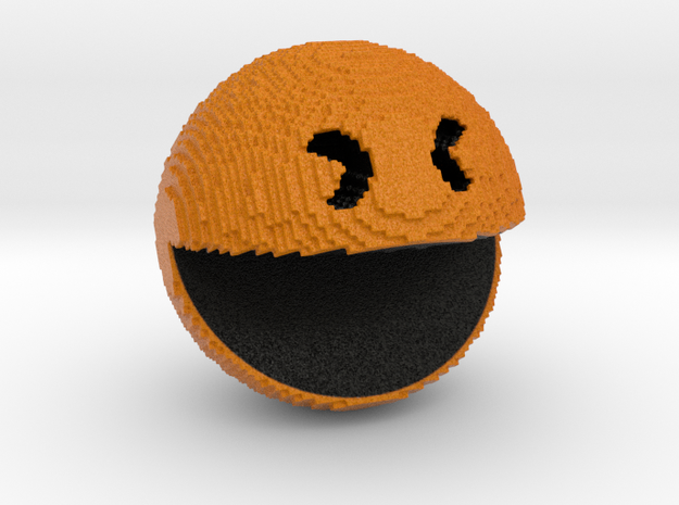 Pacman pixelated from 'PIXELS 2015' movie in Full Color Sandstone