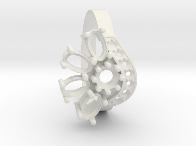 SolarCrest Ring. Part of garniture. in White Strong & Flexible