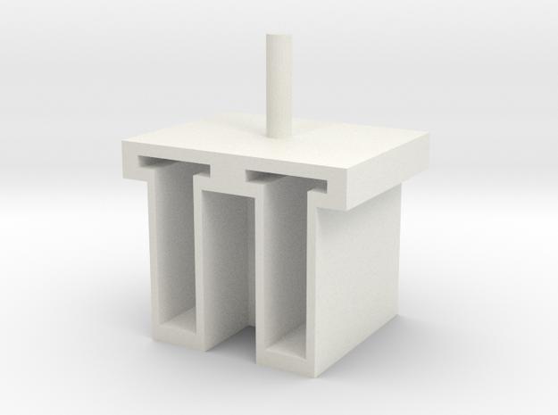 6-tube-homogenizer tube holder v.001 in White Strong & Flexible