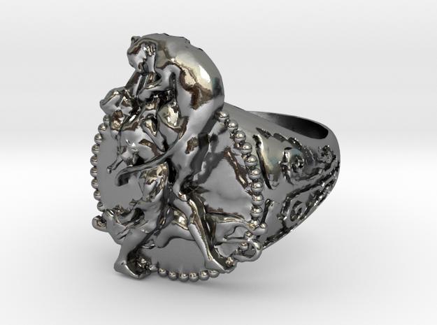 Vityaz Ring 11.4 M in Polished Silver