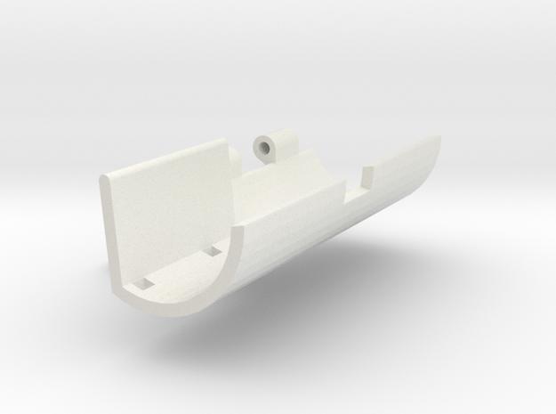 Single servo robot gripper outer side v5 in White Strong & Flexible