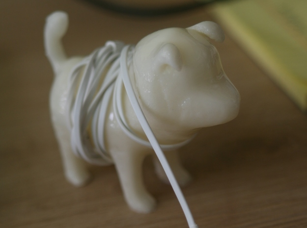Jindo Puppy in White Acrylic