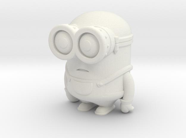 Minion Bob in White Natural Versatile Plastic
