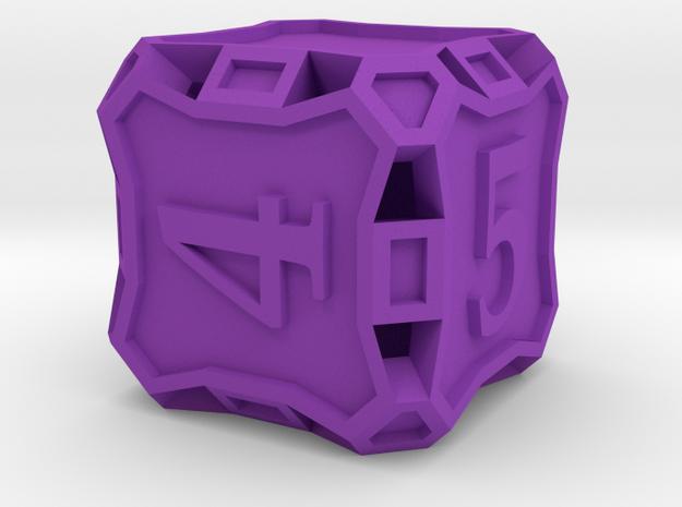 Large Die6 - Custom in Purple Processed Versatile Plastic