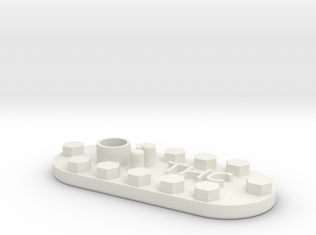 1/10 SCALE FUEL LID INSERT in White Natural Versatile Plastic