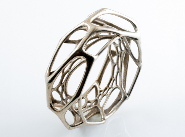 Exo Bangle sz M 3d printed in stainless steel